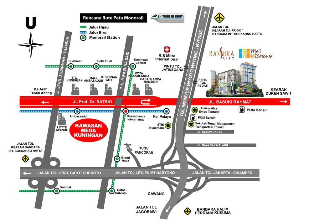 Map Lokasi Apartemen Bassura City