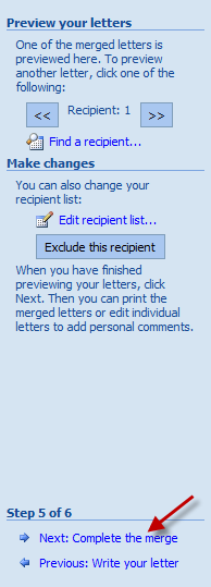 Create Invitation Labels: Mail Merge Wizard - Complete The Merge